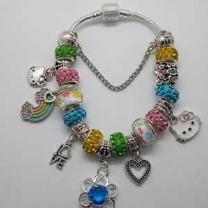 Hello Kitty European Charm Bracelet